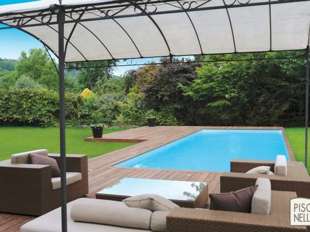 piscine rectangulaire cr piscinelle piscine terrasse. Black Bedroom Furniture Sets. Home Design Ideas