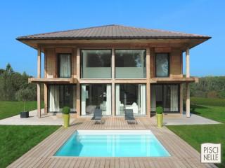 Piscinelle BO : Piscine carrée avec maison