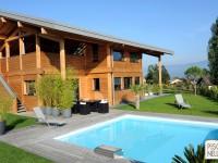 Piscinelle BO : Piscine carrée avec terrasse en bois grisé
