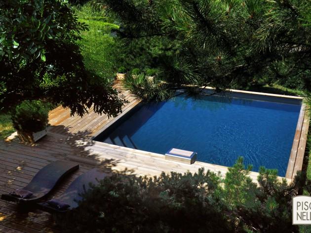 Piscine carr e bo piscinelle piscinelle bo piscine for Piscine bois carree