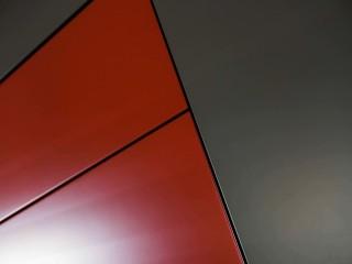 Placard de rangement rouge