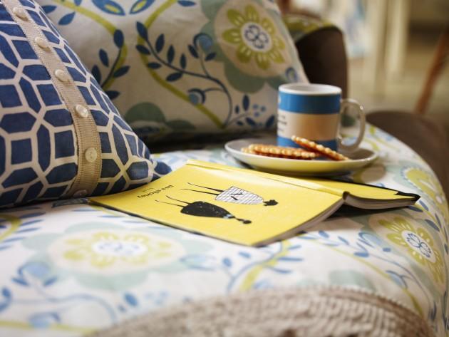 Plaid patchwork et coussins décoratifs