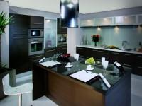Plan de travail de cuisine sur ilot central