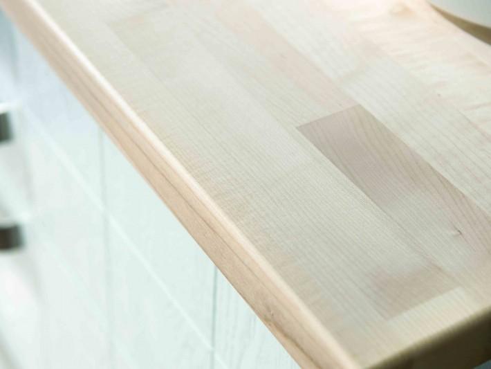 Plan de travail en bois de chêne blanchi