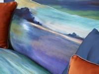 Plan rapproché sur le canapé