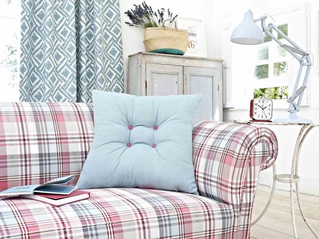 Plan rapproché sur un canapé