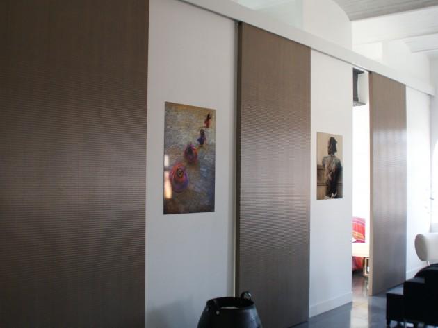 Am nagement loft dogsign porte coulissante chambre id - Porte coulissante chambre ...