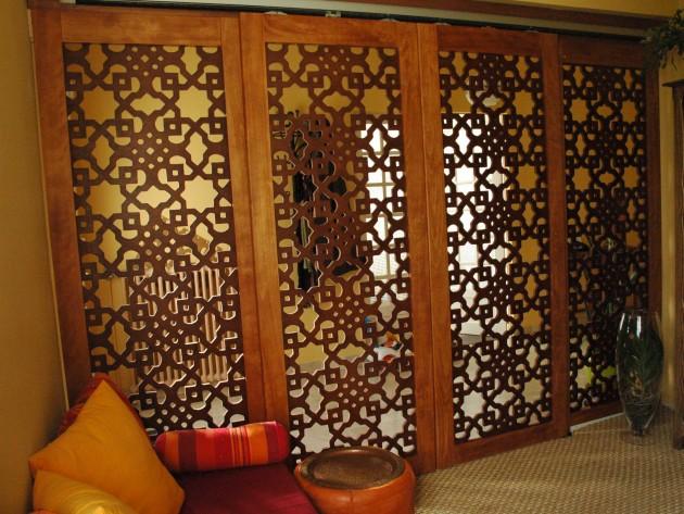 moucharabiehs portes coulissantes en claustra. Black Bedroom Furniture Sets. Home Design Ideas