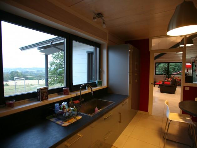 construction maison ossature bois guillaumie pose plan. Black Bedroom Furniture Sets. Home Design Ideas