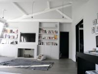 Poutres apparentes et mobilier design