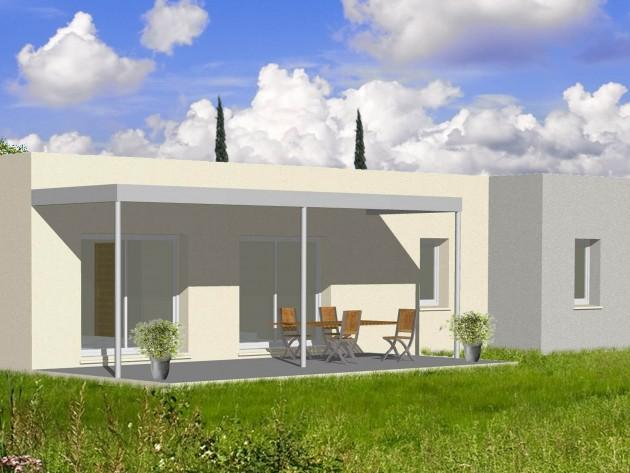 Projet de plain avec toit plat