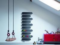 Radiateur mural innovant noir