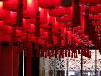 Rangées de lampion chinois