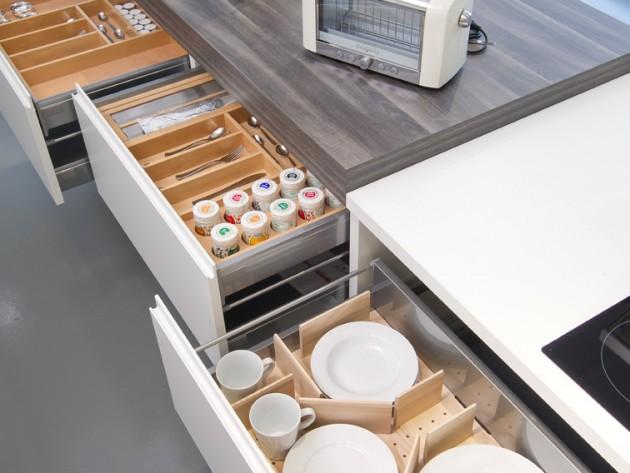 cuisine la parisienne cuisines aviva rangement avec int rieur en bois id. Black Bedroom Furniture Sets. Home Design Ideas