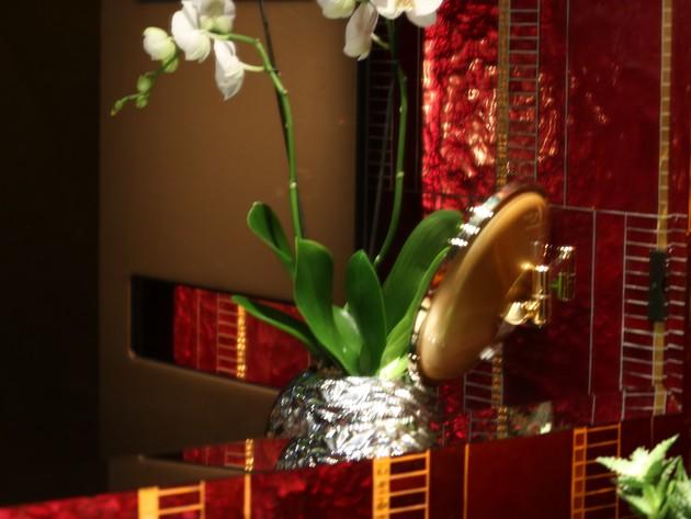s che serviette acova buddha bar zehnder reflet du s che serviette dans le miroir. Black Bedroom Furniture Sets. Home Design Ideas