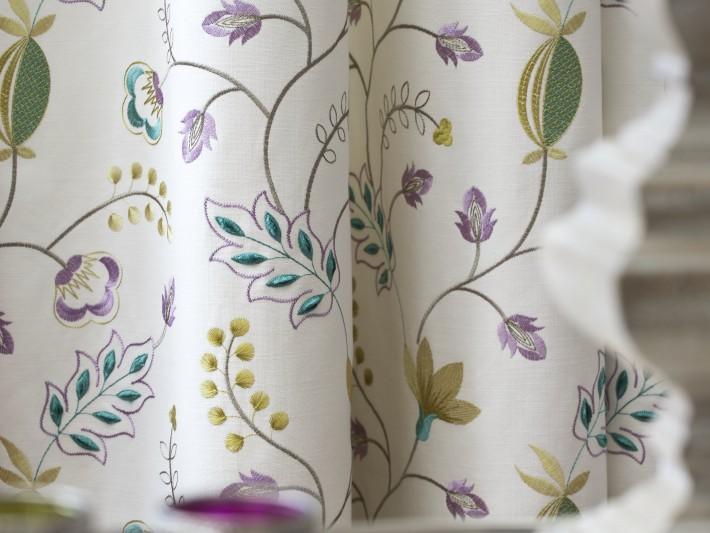 Rideaux à motif floral
