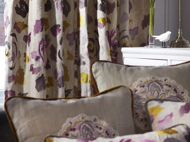 textiles jamboree prestigious textiles rideaux et coussins en tissu motifs id. Black Bedroom Furniture Sets. Home Design Ideas