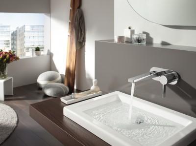 Robinetterie salle de bains living hansa id for Robinetterie murale lavabo