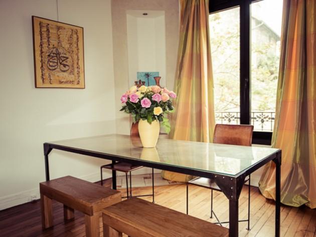 D coration maison de famille les z ateliers de la for Table salle a manger en verre