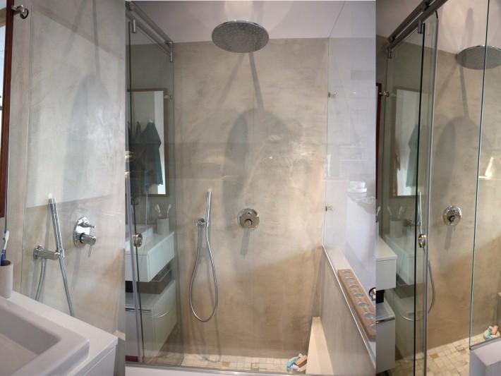 appartement terrasse symetric design salle de bain b ton cir id. Black Bedroom Furniture Sets. Home Design Ideas