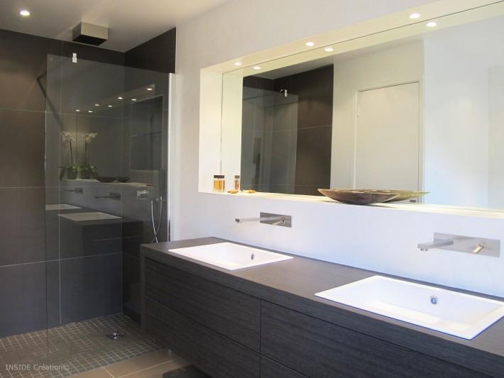 Salle de douche à l\'italienne - Inside Création - Salle de bain ...