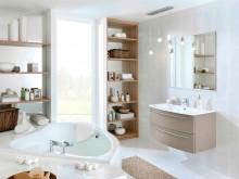 Salle de bain marron glacé
