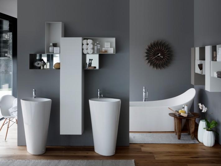 Salle de bains Palomba by Laufen lavabo MENHIR