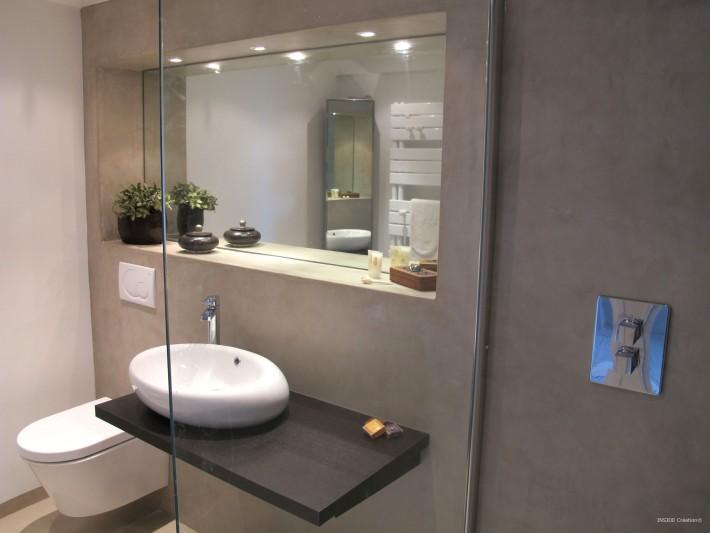 Salle de bain béton ciré - Inside Création - Salle de douche ...
