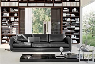 Canap s sofas reversi molteni c dada id - Canape avec bibliotheque integree ...