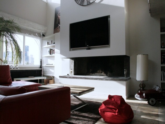 am nagement complet duplex ouest home salon avec. Black Bedroom Furniture Sets. Home Design Ideas