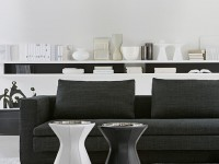 Salon contemporain en noir et blanc