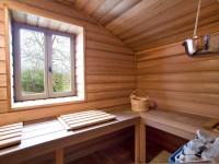 Sauna entièrement en bois