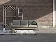 Sofa et coussin en tissu