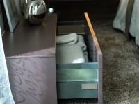 Table basse de rangement en imitation bois