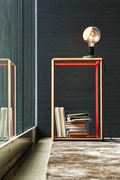 Table basse design de forme géométrique