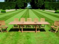 Table de jardin avec rallonge