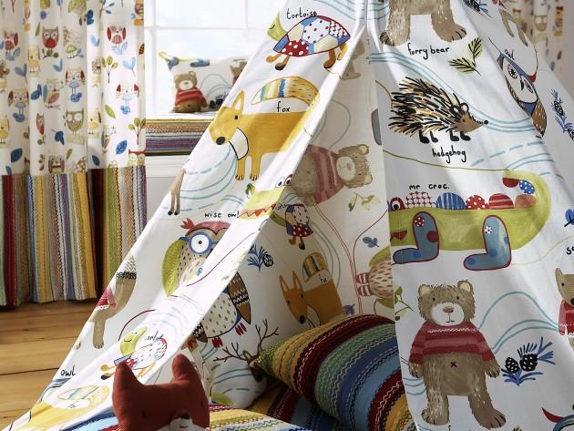 Tente pour enfant en tissu