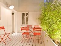 Terrasse avec sol en bois