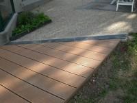 Terrasse en lames composites