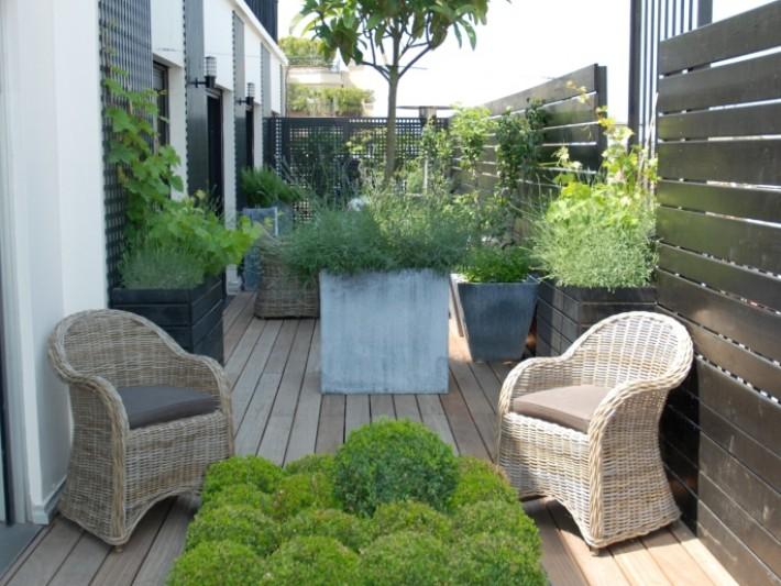 Terrasse en plancher iroko