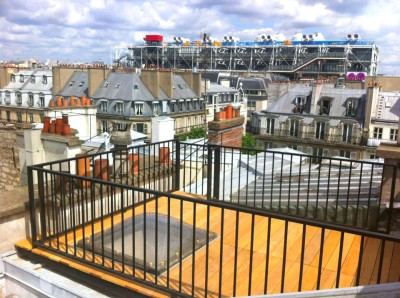am nagement terrasse r novation parisienne id. Black Bedroom Furniture Sets. Home Design Ideas