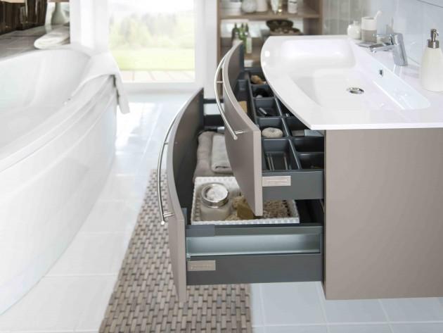 Salle de bains giro marron glac schmidt tiroir de for Schmidt salle de bain