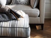 Tissu d'ameublement pour canapé et pouf repose pieds