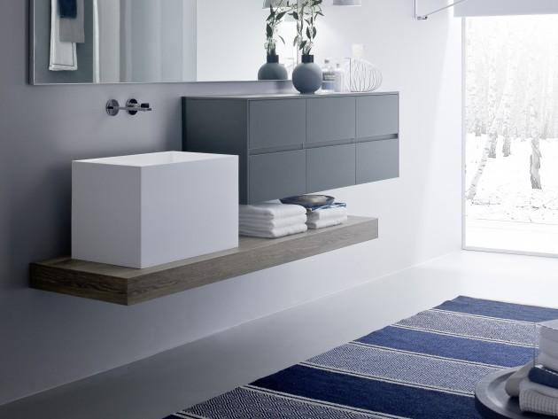 Salle de bain modulaire nyu idea group vasque haute for Idea groupe salle de bain