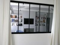 Verrière avec rideaux