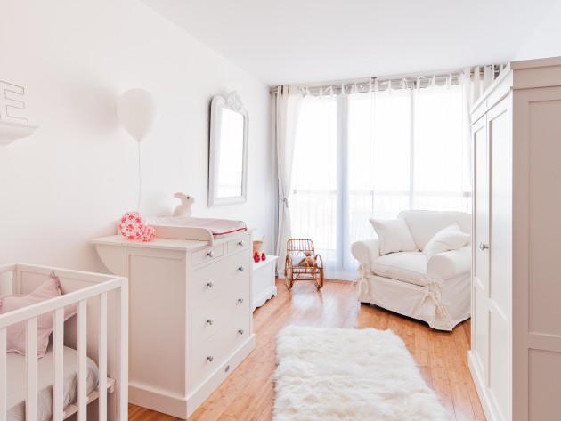 Vue d'ensemble de la chambre de bébé