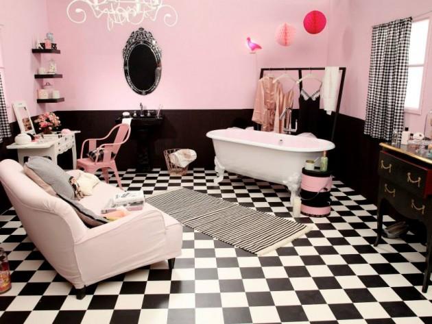 Vue d'ensemble de la salle de bains