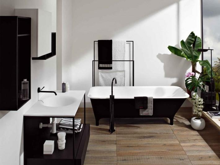 Vue d'ensemble sur la salle de bain
