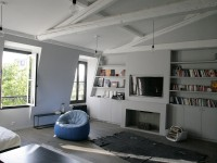 Vue détaillée du meuble de rangements