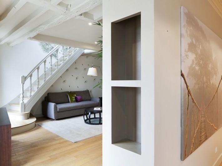 am nagement appartement duplex except design vue sur. Black Bedroom Furniture Sets. Home Design Ideas